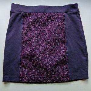 American Eagle embroidered mini skirt